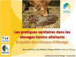Les pratiques sanitaires dans les élevages bovins allaitants