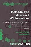Méthodologie du recueil d'informations